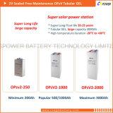 2V 250ah Opzv電池の管状の版のゲル電池