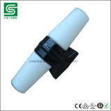 Support noir de lampe de la porcelaine E27