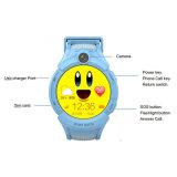 Teléfono móvil de la pantalla del tacto del LCD del bebé de los cabritos del reloj redondo del GPS