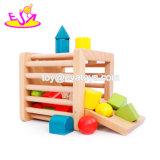 Neue heißeste pädagogische Kind-hölzerner Spielzeug-Kasten mit Form-Sorter W12f024