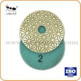 """4개의 """" /100mm 4 단계는 돌을%s 사용 회전 숫돌 연마재 공구 다이아몬드 닦는 패드를 적셨다"""