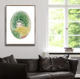 Cuadro abstracto clásico de la decoración del arte de la pared de la pintura de la lona del petróleo del retrato del estilo chino