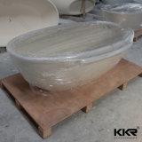 Cubas quentes da pedra da resina da banheira da forma da bacia
