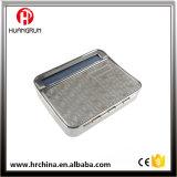 Caja Siver del rodillo del cigarrillo del rectángulo del balanceo del tabaco del hierro del metal Rol2-1 con la parte posterior del arco