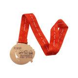Qualität fertigen laufende Zink-Legierungs-Sport-Medaille kundenspezifisch an