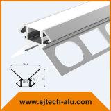 """Aluminium-LED-Profil mit einzelnem Flansch vertiefte in 5/8 """" Trockenmauer für sich hin- und herbewegende Decke"""