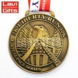 安い習慣第2デザインリボンが付いている旧式な銅の柔らかいエナメルメダル