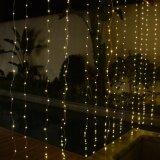 UL588は家または店または結婚式の装飾のための3*3m LEDのカーテンライトを承認した