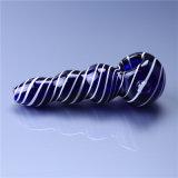 Pipa de tubo de vidrio colorido el tornillo del tubo de la mano del tubo de cuchara