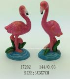 Cinzeiro Polyresin do Flamingo estátua do Artesanato