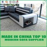 Muebles de hogar moderno clásico italiano seccional Loveseat sofá de cuero