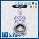 Valvola di globo dell'acciaio inossidabile CF3m del volante di Didtek