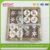 Geschenk-Verpackungs-WeihnachtenTealight Kerzen mit Dekorationen