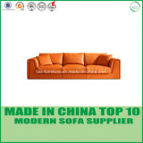 Sofá de madera del ocio determinado moderno de los muebles de oficinas con la pluma