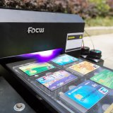 Stampante UV a base piatta di formato del fuoco A4 per la scheda del PVC, stampa della cassa del telefono