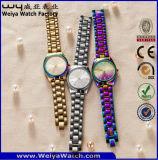 Montre-bracelet classique de mode d'ODM de dames occasionnelles d'acier inoxydable (WY-P17003C)