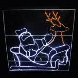 2D a Santa Claus Piscina animales decoración navideña de la luz de Motif