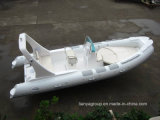 Almofada insuflável 6.2m Liya Costela de fibra de barco de pesca com motores fora de borda