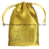 Мода пользовательских печатных украшения подарочный мешок золота Атласная ткань кулиской чехол