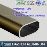 Profilo di alluminio del tubo rotondo ovale del guardaroba con colore/dimensione differenti