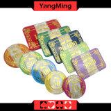 Plástico acrílico Poker Chip Set 760 PCS Casino Suit para o Casino 5 - 8 Jogadores em caso de chip em alumínio prateado (YM-FOCP002)