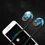 Le sport des écouteurs filaires lourd de la musique de basse écouteurs avec microphone pour iPhone Android