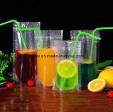 Stand up pochette à fermeture à glissière Jus de fruits sac en plastique