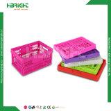 Panier à provisions pliable d'emballage en plastique