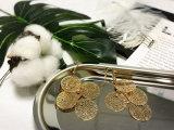 Серьга круга латунного медного золота типа взморья пляжа типа Boho круглая для женщин