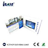LCD van 4.3 Duim Video boekje-Video brochure-VideoKaart voor Presentatie