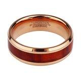 Namen de In het groot Juwelen van de fabriek Ring van het Inlegsel van het Staal van het Wolfram van het Gouden Plateren de Houten toe