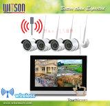 CCTV 9 pouces en HD 720p p2p WiFi sans fil numérique Accueil Surveillance Kit de système de caméra réseau IP