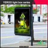 Contenitore chiaro di alberino della lampada di via parteggiata del doppio per la pubblicità