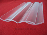 Polissage de surface transparente de la moitié de la plaque de verre de quartz ronde