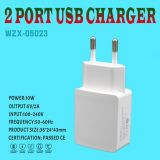 Nieuwe Aankomst 2 de Lader van de Reis van Havens USB voor Mobiele Telefoon