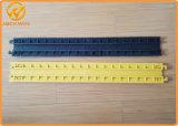 Protetor amarelo interno do fio do cabo do assoalho da canaleta da tampa 1 do PVC