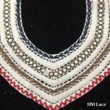 Applique delicatamente a strati lavorato a maglia variopinto del merletto del collare del merletto del Neckline del Crochet del cotone di 34*26cm per il Applique nuziale Hm2010 del merletto di Venise degli accessori della camicetta