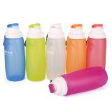 Пользовательские цвета портативных Leak-Proof многоразовые поездки складная силиконовая бутылка воды