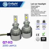 2 do lote S2 H1 da ESPIGA do diodo emissor de luz do farol 72W 8000lm do carro do diodo emissor de luz dos faróis do bulbo partes de luz de névoa 6500K 12V