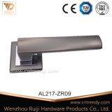 Heiße Verkaufs-Befestigungsteil-Aluminiumtür-Griffe auf quadratischer Rose (AL218-ZR23)