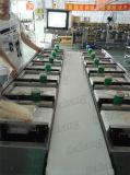 Rodajas de pescado pollo columpio peso que coincida con la máquina