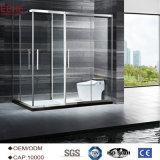 precio de cristal del sitio de ducha de la cubierta superior del cuarto de baño del vidrio de 6m m en la India