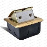 Piso/tierra toma multifunción tapa de latón eléctrica emergente montado en el piso Sockets