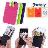 Caja de la tarjeta de crédito del sostenedor de la bolsa del dinero suelto del silicón para el teléfono celular