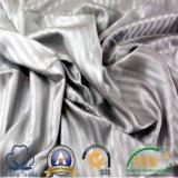 A alta qualidade descorou escovou a tela 100% tingida listra do cetim de Microfiber 1cm do poliéster