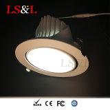 30W de alta lúmenes de luz de foco empotrables LED para iluminación de oficina