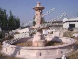 Стороны резного воды мраморным фонтаном для использования вне помещений (SK-2441)