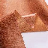 Бархат 2018 фальшивки ткани Brown напечатанный Lather с пальто (YN005)