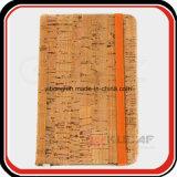 Aduana de madera del cuaderno de la PU de la textura del regalo corporativo