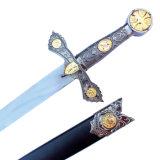 Punhal histórico do punhal europeu europeu do cavaleiro do punhal o punhal 40cm HK8370 da película e da televisão